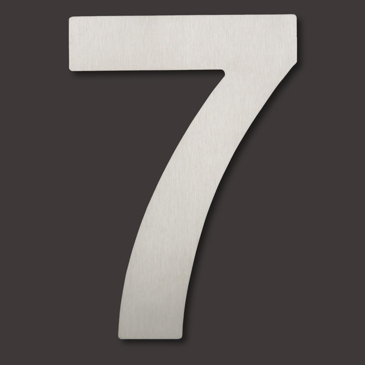 edelstahl hausnummer 7 fein geb rstet h he 20 cm hausnummer 7 malux shop. Black Bedroom Furniture Sets. Home Design Ideas